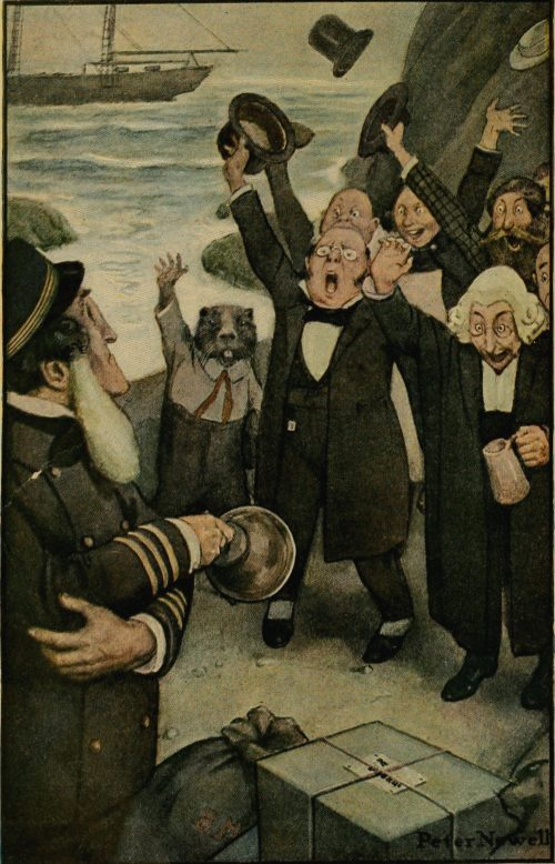 The Hunting of The Snark Poem - They drank to his health Illustration by Peter Newell