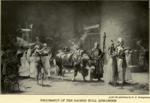 Procession of the Sacred Bull Apis-Osiris After the painting by E.F. Bridgman