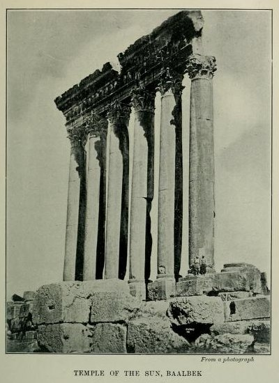 Temple of the Sun, Baalbek, From a photograph