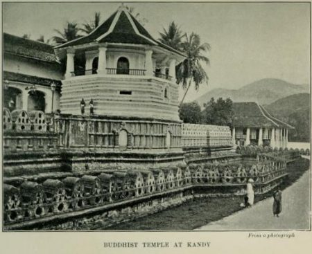Buddhist Temple at Kandy, From a photograph