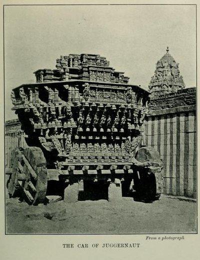 The Car of Juggernaut, From a photograph