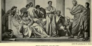 The School of Plato After the painting by O. Knille