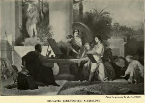 Socrates Instructing Alcibiades After the painting by H.F. Schopin