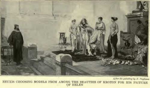 Zeuxis Choosing Models from among the Beauties of Kroton for his Picture of Helen After the painting by E. Pagliano