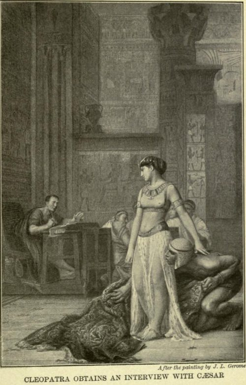 Cleopatra Obtains an Interview with Caesar After the painting by J.L. Gerome