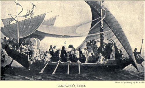 Cleopatra's Barge From the painting by H. Picou