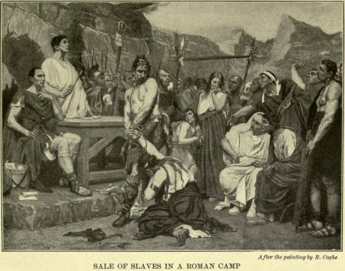 Sale of Slaves in a Roman Camp After the painting by R. Coghe