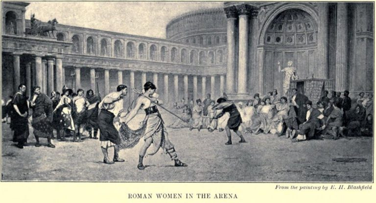 Roman Women in the Arena From a painting by E. H. Blashfield