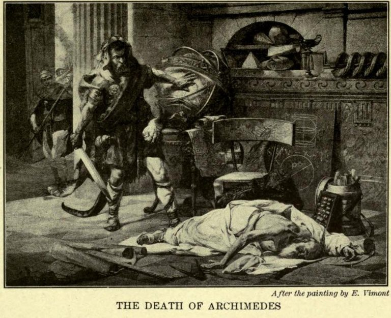 The Death of Archimedes After the painting by E. Vimont