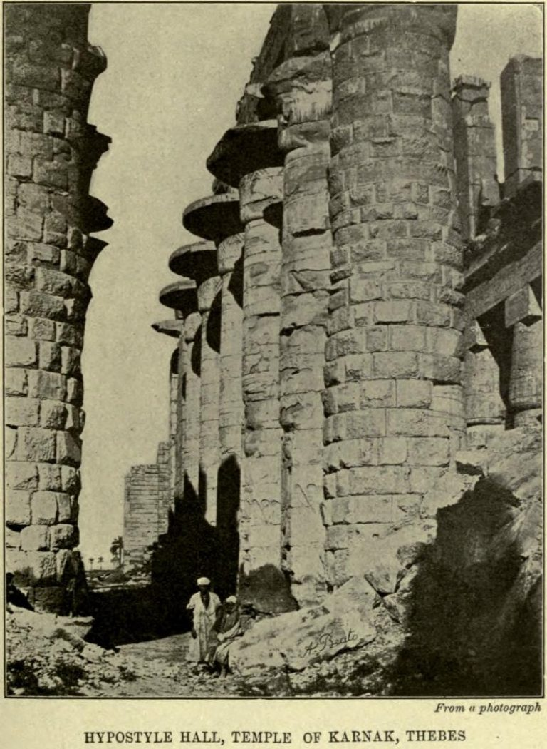 Hypostyle Hall, The Temple of Karnak After a photograph