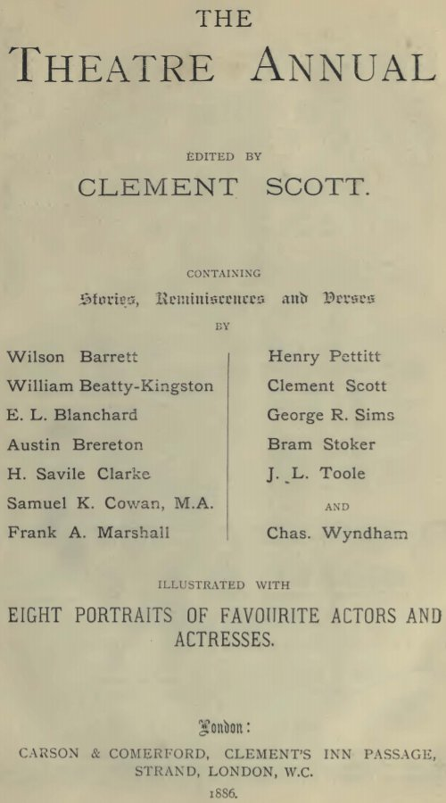 The Theatre Annual 1886 - Our New House