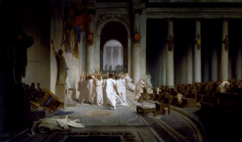 Death of Caesar From the painting by J.L. Gerome