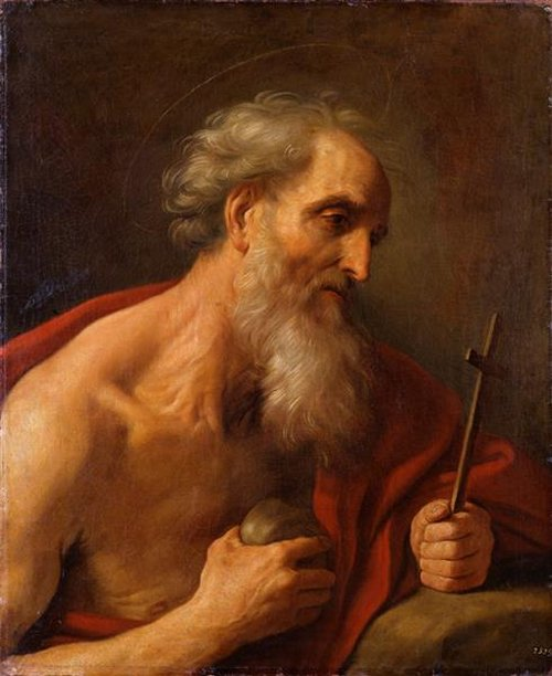 St. Jerome From the painting by Guido Reni, Dresden Germany