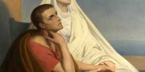 St. Augustine and His Mother. After the painting by Ary Scheffer