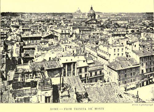 Rome from Trinita De Monti from a photograph