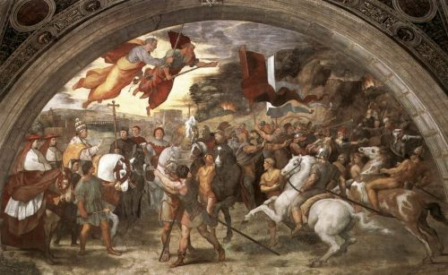 Leo I Entering Rome, Fresco by Raphael