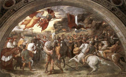 Leo I Entering Rome, Fresco by Raphael