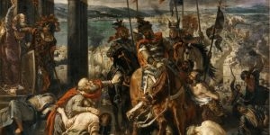 Crusaders Entering Constantinople, From the painting by Eugène Delacroix