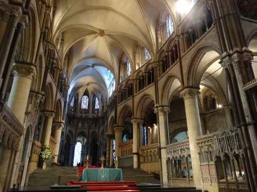 Inside Canterbury Cathedral From a photograph