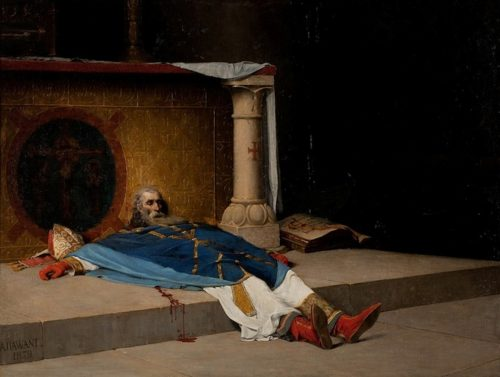 The Murder of St. Thomas à Becket After the painting by A. Dawant