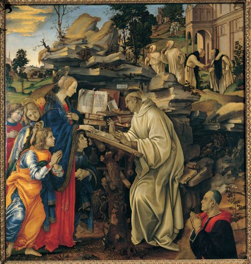 Saint Bernard From the painting by Filippino Lippi, La Badia, Florence