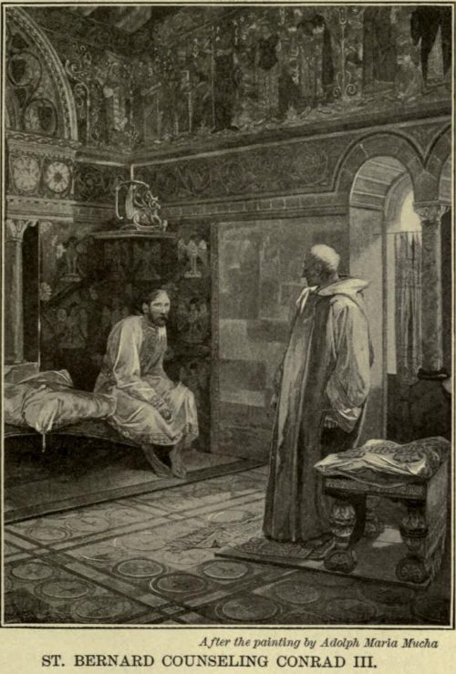 St. Bernard Counselling Conrad III. After the painting by Adolph Maria Mucha