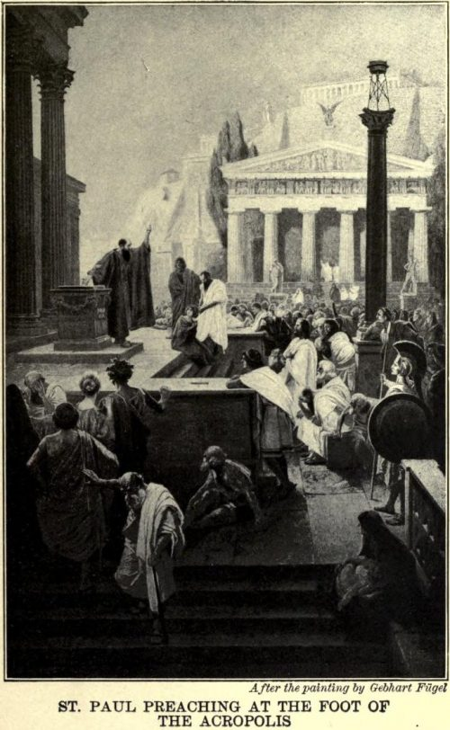 St. Paul Preaching at the Foot of the Acropolis After the painting by Gebhart Fügel