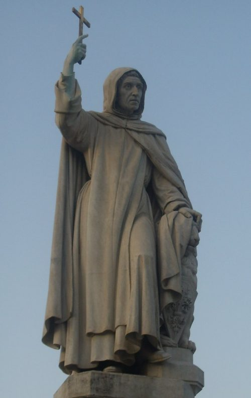Savonarola From the statue by E. Pazzi, Uffizi Gallery, Florence