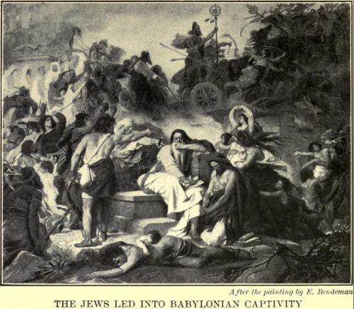 The Jews Led Into Babylonian Captivity After the painting by E. Bendeman
