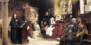 Luther Preaching at Wartburg After the painting by Hugo Vogel
