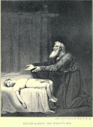Elijah Raising the Widow's Son After a drawing by R. Westall R.A