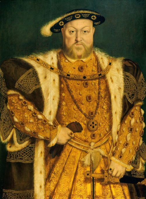 Henry VIII. of England After the painting by Hans Holbein, Windsor Castle, England