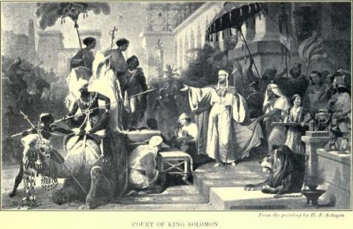 Court of King Solomon From the painting by H. E. Schopin