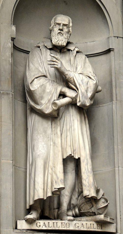 Galileo Galilei Statue by A. Castoli Uffizi Gallery, Florence