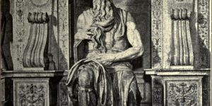 Moses From the statue by Michael Angelo, Rome