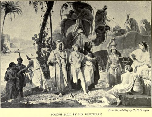 Joseph Sold by His Brethren. After the painting by H.F. Schopin
