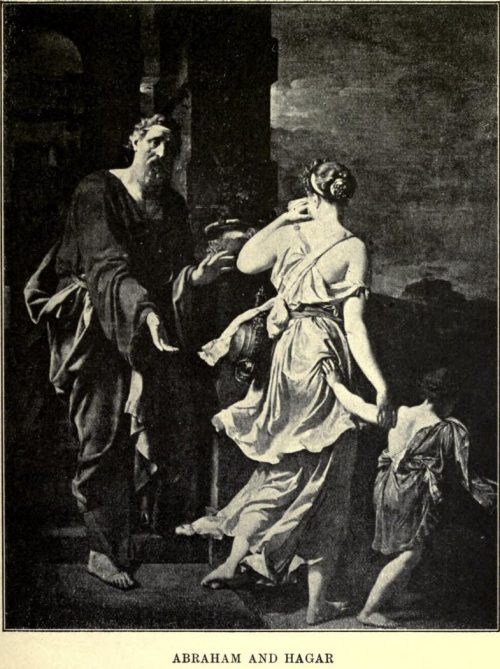 Abraham and Hagar After the painting by Adrian van der Werff