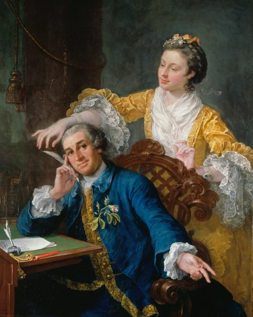 David Garrick and His Wife Eva-Maria Veigel After the painting by William Hogarth
