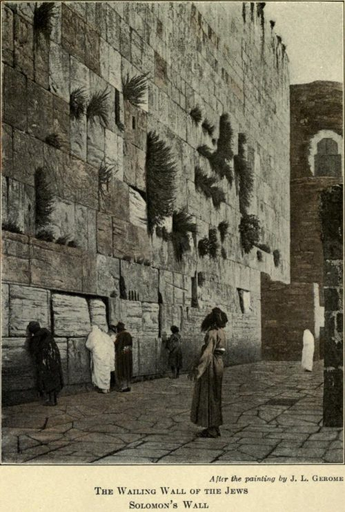 Solomon's Wall, The Wailing Wall of the Jews After the painting by J.L. Gerome