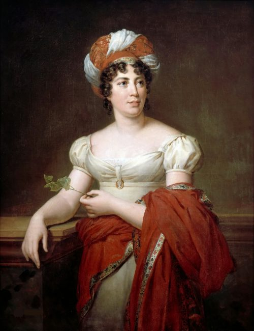Madame de Staël After the painting by Mlle. de Godefroid, Versailles