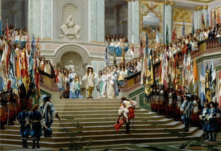 Reception of the Great Condé by Louis XIV After the painting by J. L. Gérôme