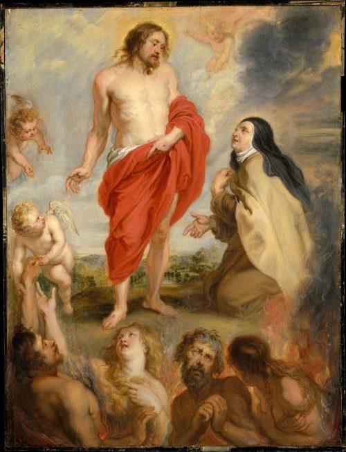 Saint Teresa of Ávila Interceding for Souls in Purgatory by Peter Paul Rubens