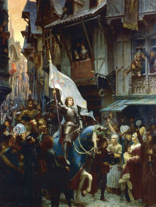 Victorious Joan of Arc After the painting by Jean-Jacques Scherrer