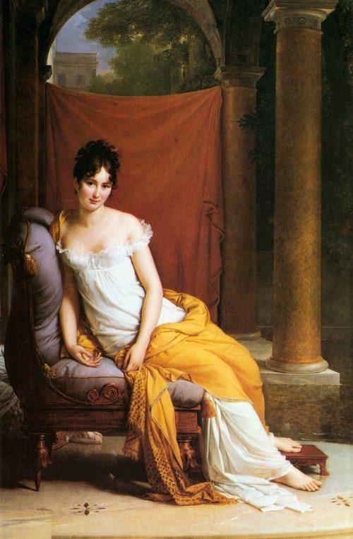 Madame de Récamier After the painting by Baron François Pascal Gérard
