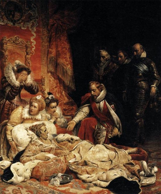 Last Moments of Queen Elizabeth painting by Paul Delaroche