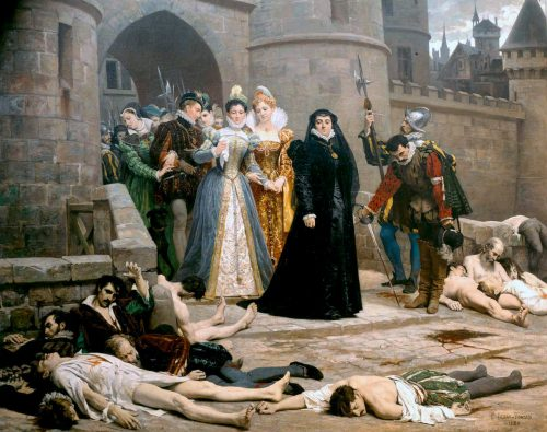 The Morning after the Massacre of St. Bartholomew painting by Édouard Debat-Ponsan