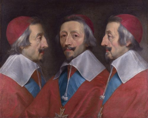 Cardinal Richelieu painting by Philippe de Champaigne, National Gallery, London