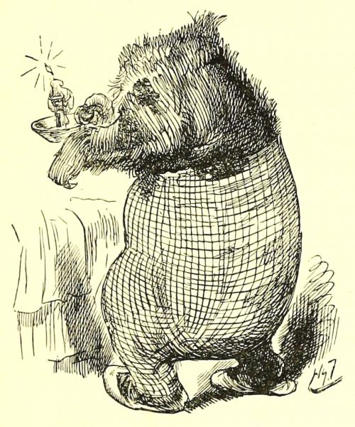 Sylvie and Bruno - A Bear Without A Head Illustration by Harry Furniss