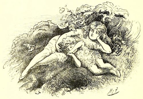 Sylvie and Bruno - Fairies Resting Illustration by Harry Furniss