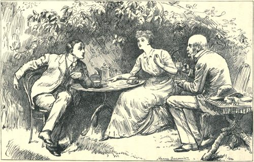 Sylvie and Bruno - Five O'Clock Tea Illustration by Harry Furniss
